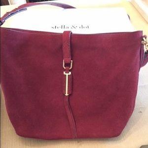 Covet Sunday Bag - Burgundy Suede